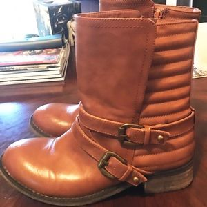 GC Shoes Light Brown Ankle Boots, size 6.5